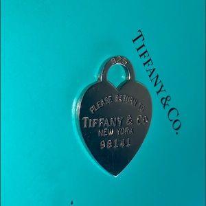 Tiffany & Co. Jewelry - TIFFANY & CO STERLING SILVER HEART CHARM
